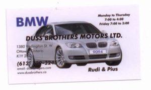 Rudy Duss BMW